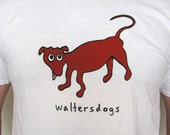 Mens WaltersDogs T-Shirt in White- Size L