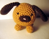Too Cute Brown Floppy Ear Puppy Amigurumi