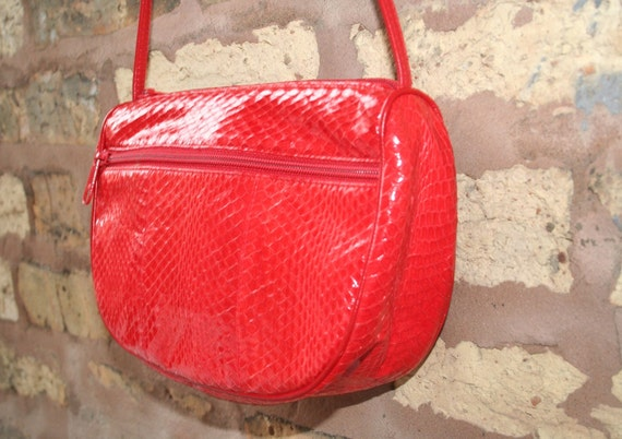 S A L E To the Max Red Snake Skin Purse