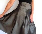 FREE SHIPPING taffeta skirt Romantic Skirts, Skirt Green, Unique Skirts, Feminine Evening Outfit