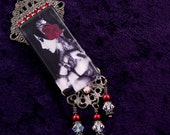 Beautiful Tribal Fusion Belly Dancer Glass and Crystal Pendant Necklace.. Rachel Brice, burlesque, showgirl, vaudeville