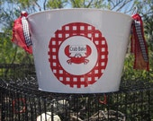 Personalized Crab Bake Beverage Tub