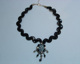 Black Sequin Laced Choker