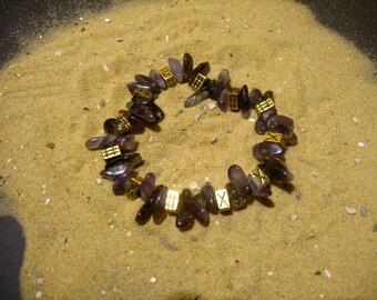 Amethyst Bracelet. Unique. OOak