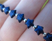 Sapphire Jewel Tone Micro Lucky Stars Bracelet