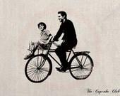 Clip Art Designs Transfer Digital File Vintage Download DIY Scrapbook Shabby Chic Pillow Historical Picture Elvis the King Bike No. 0357