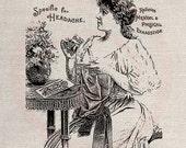 Clip Art Designs Transfer Digital File Vintage Download DIY Scrapbook Shabby Chic Burlap Old Coca Cola Label No. 0391