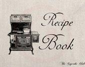 Clip Art Designs Transfer Digital File Vintage Download DIY Scrapbook Shabby Chic Pillow Burlap Kitchen Recipe Book Hoven No. 0414