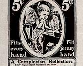 Clip Art Designs Transfer Digital File Vintage Download DIY Shabby Chic Retro Label Fairy Soap No. 0157
