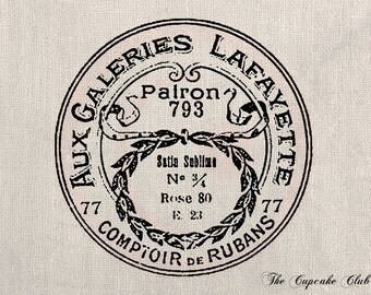 Clip Art Designs Transfer Digital File Vintage Download DIY Shabby Chic Paris France Galeries Lafayette Fashion No. 0198
