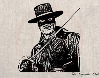 Clip Art Designs Transfer Digital File Vintage Download DIY Shabby Chic Zorro Sword No. 0179