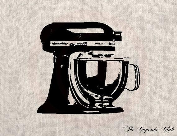 Kitchen Mixer Clip Art ~ Items similar to clip art designs transfer digital file