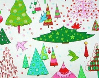 Candy Colored Christmas Alexander Henry, Christmas Fabric, Cotton Fabric, Alexander Henry Cotton Fabric - 1 yard