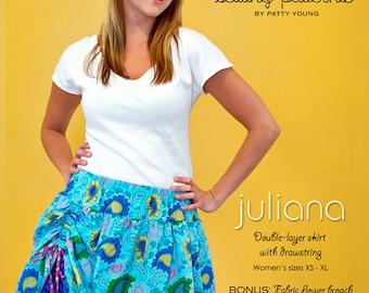 Modkid JULIANA Double Layer Skirt Sewing Pattern  Sizes XS-XL