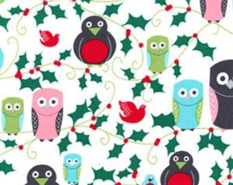 Ho Ho Hoot Michael Miller Holiday Fabric 1/2 Yard