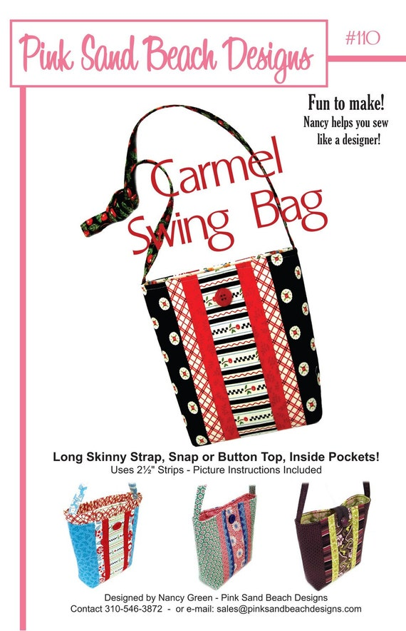 Pink Sand Beach Designs CARMEL Swing Bag Sewing Pattern