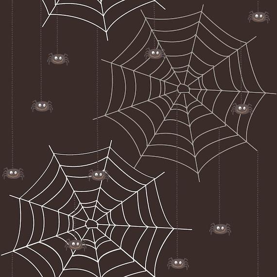 Riley Blake BOO to YOU Spider Webs Black 1 Yard Halloween Fabric
