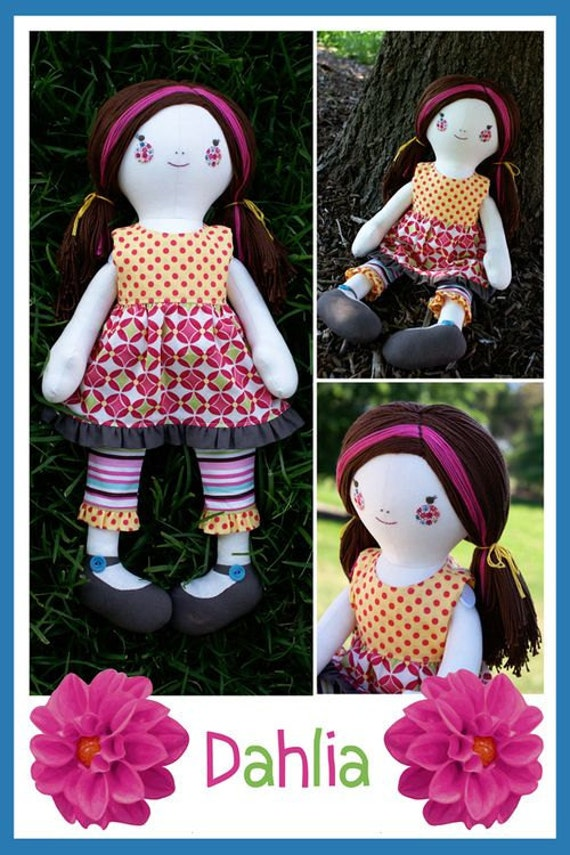 Melly and Me DAHLIA Rag Doll Sewing Pattern Australia ABSD