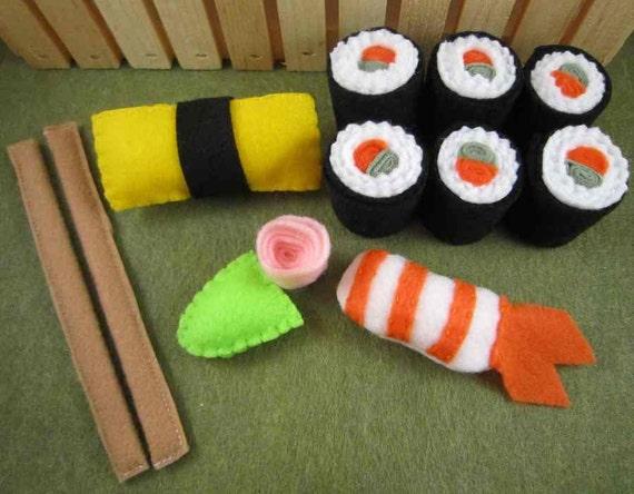 Deluxe Sushi Set Felt Food