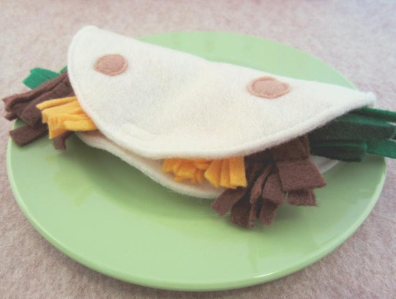 Felt Food Taco with Velcro Closure
