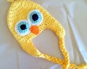 Baby or Toddler Yellow Chick Hat/ Custom Crochet/ Photo Prop