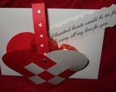 Individual Danish Woven Heart with Envelope - Julehjerte