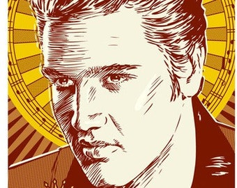 Elvis Presley -  Pop Art Print - 13 x 19