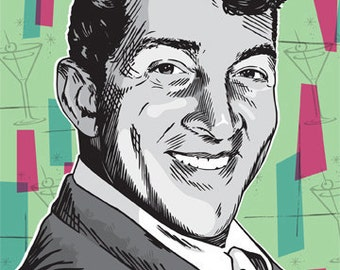 Dean Martin - Rat Pack - Pop Art Print - 18 x 24