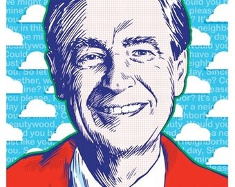 Mister Rogers - Pop Art Print - 18 x 24 and 24 x 36