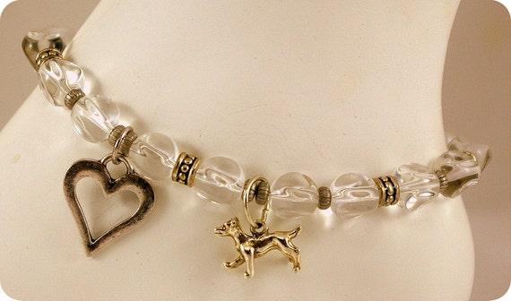 I heart my Dog Crystal Ankle Bracelet.  Stylish.  Delightful.  Adorable.