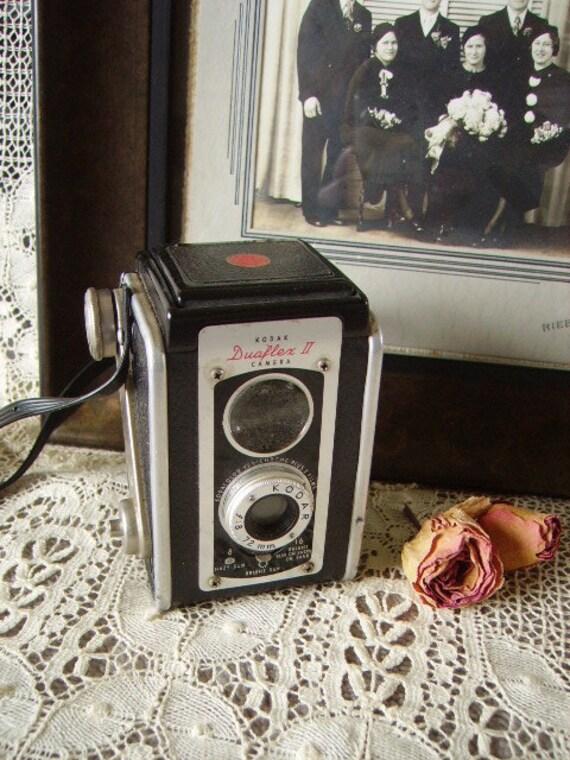 vintage camera, Kodak Duaflex II, mid-century