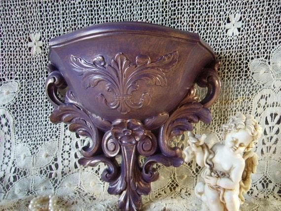 Romantic Cottage Purple Elegance Baroque Style Wall Pocket