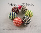 Seed Bead Pattern, Beaded Beads, Beaded Bead Tutorial, Beading Tutorial, DIY Beads, Glass Beads, Seed Beads, Miyuki Seed Bead Pattern