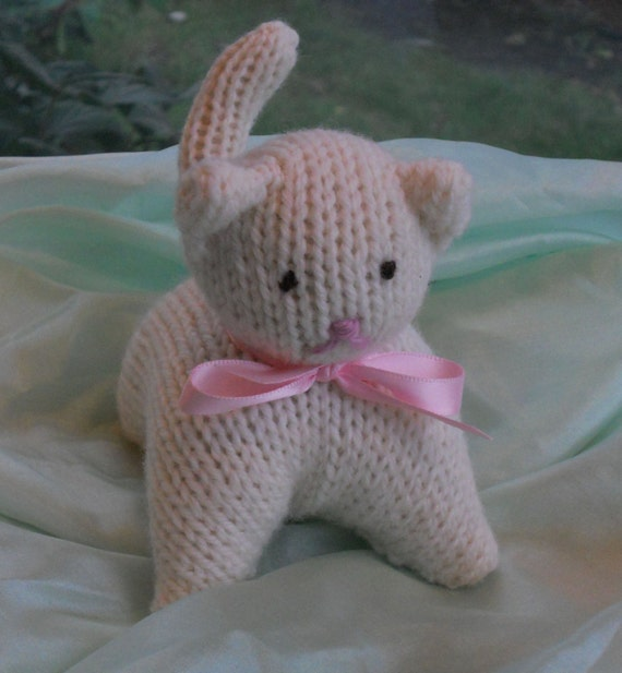 Waldorf-Inspired Knitted Kitty