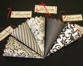 On Reserve for Denise, 10 additional Paper Cones, Express Service, Assorted, Christian Wedding, Lavender Toss, French Market, Damask, Toile