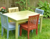 Children's Table and Four Chair Set