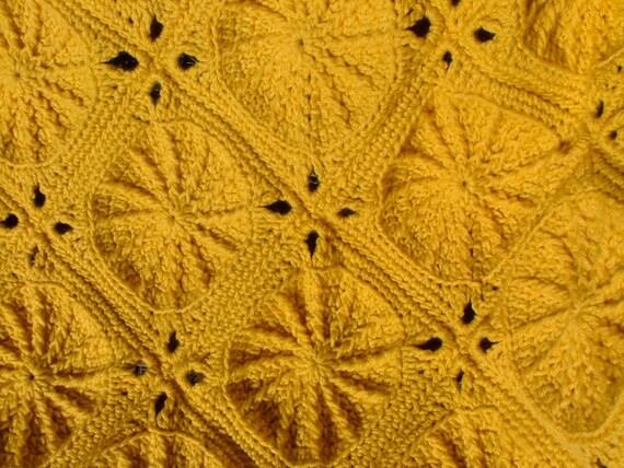 Golden Wheels Crochet Afghan