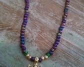 Mardi Gras Crown Necklace