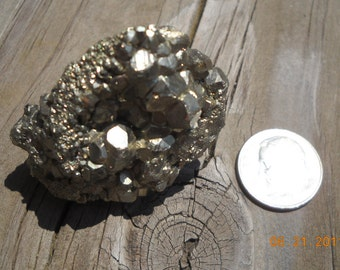 Pyrite crystal cluster fools gold stone of Joy :)