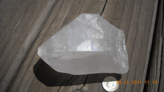 Awesome natural crystal quartz point from brazil rainbow