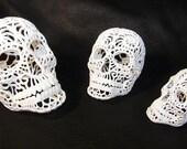 3D Printed Nautilus Filigree Sugar Skull - Small