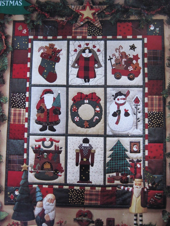 Debbie Mumm Visions Of Christmas Applique Quilt Pattern Wall