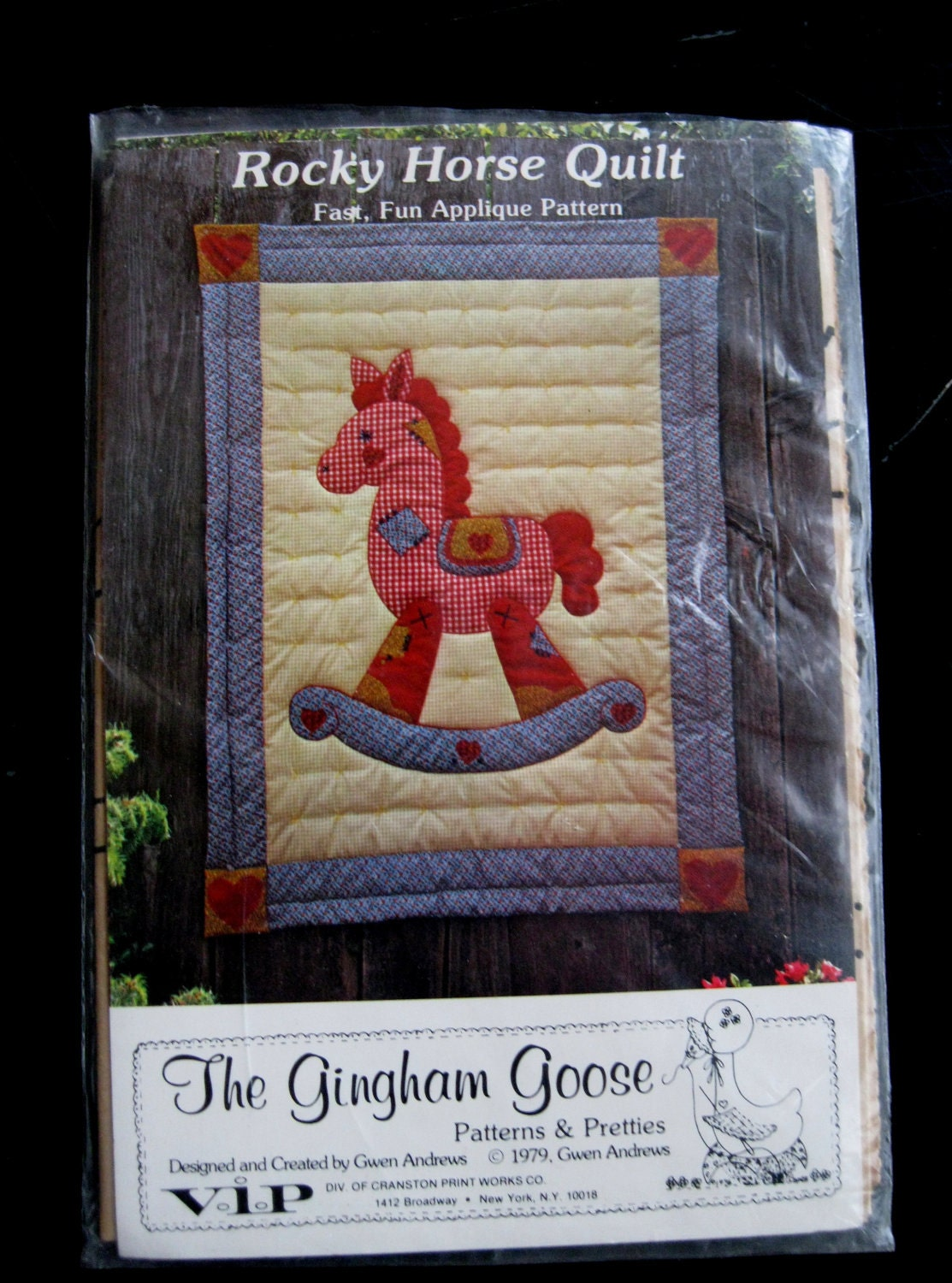 Rocking horse baby quilt pattern 45 x 60 machine by quiltcitysue