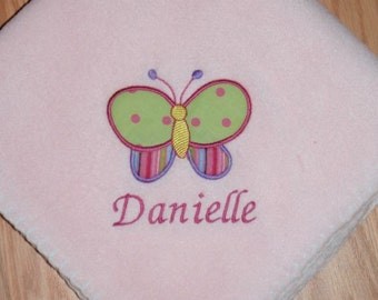 Butterfly Baby Girl Blanket Personalized Free