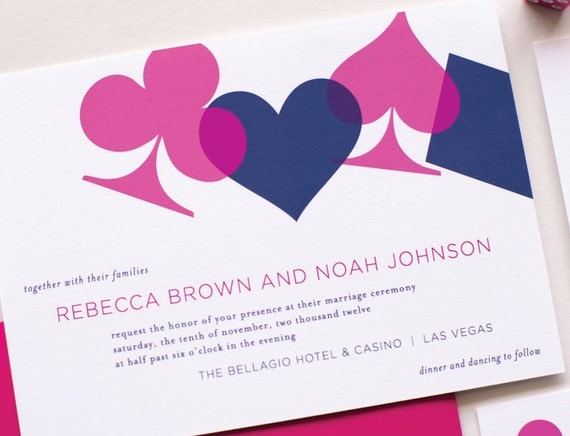 Vegas Wedding Invitation: Vegas Wedding Invitation Sample Chic Vegas By Laurenchismpaper