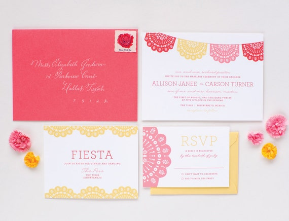 Bodega Wedding Invitation Sample