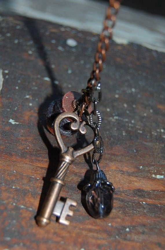 Steampunk Inspired Keychain or Zipper Pull
