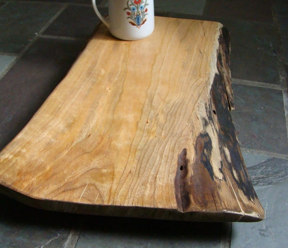 Wood Cutting Board - Cutting Block - Serving Tray - Solid Cherry - Handcrafted With Sustainably Harvested Wood