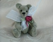 Miniature Artist Bear with Rose