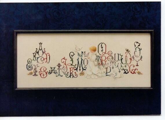 Cross Stitch Pattern Enchanted Alphabet Lavender By